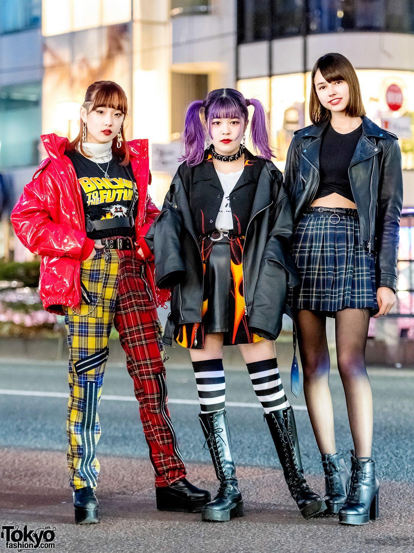 Japan punk girls, leah reminisex fakes