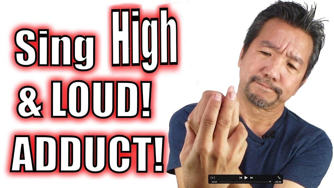 How to sing high and loud using adduction messa di voce