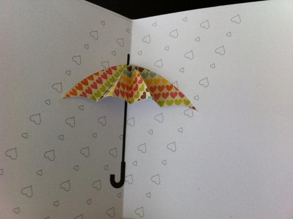 Umbrella Pop Up Card Baby Shower Etsy Umbrella Cards Pop Up Greeting Cards Square Card