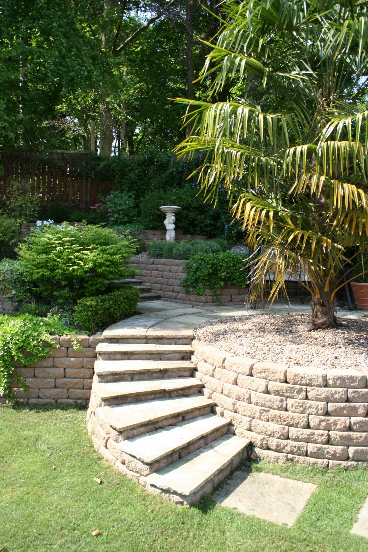 Many Opportunities Are Available When Creating A Sloped Garden Design Exciting Features Such As Step Sloped Backyard Sloped Backyard Landscaping Sloped Garden
