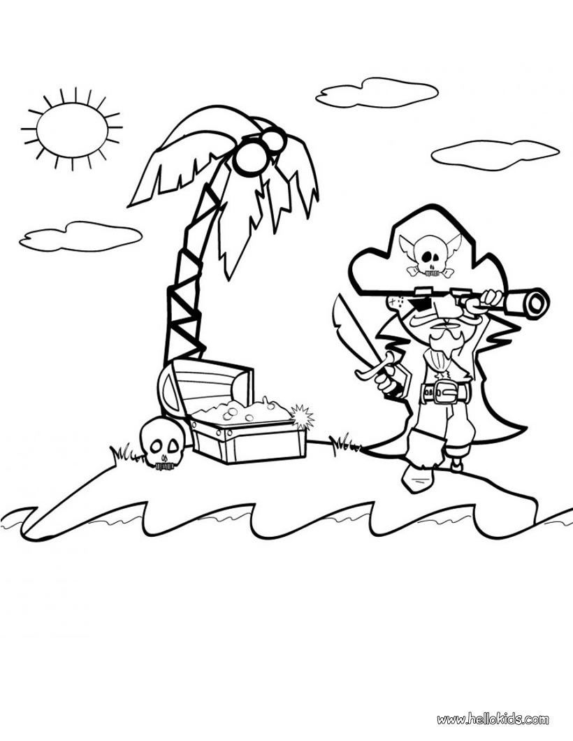 Free Pirate Coloring Pages With Pirate | Coloring For Kids | Pinterest