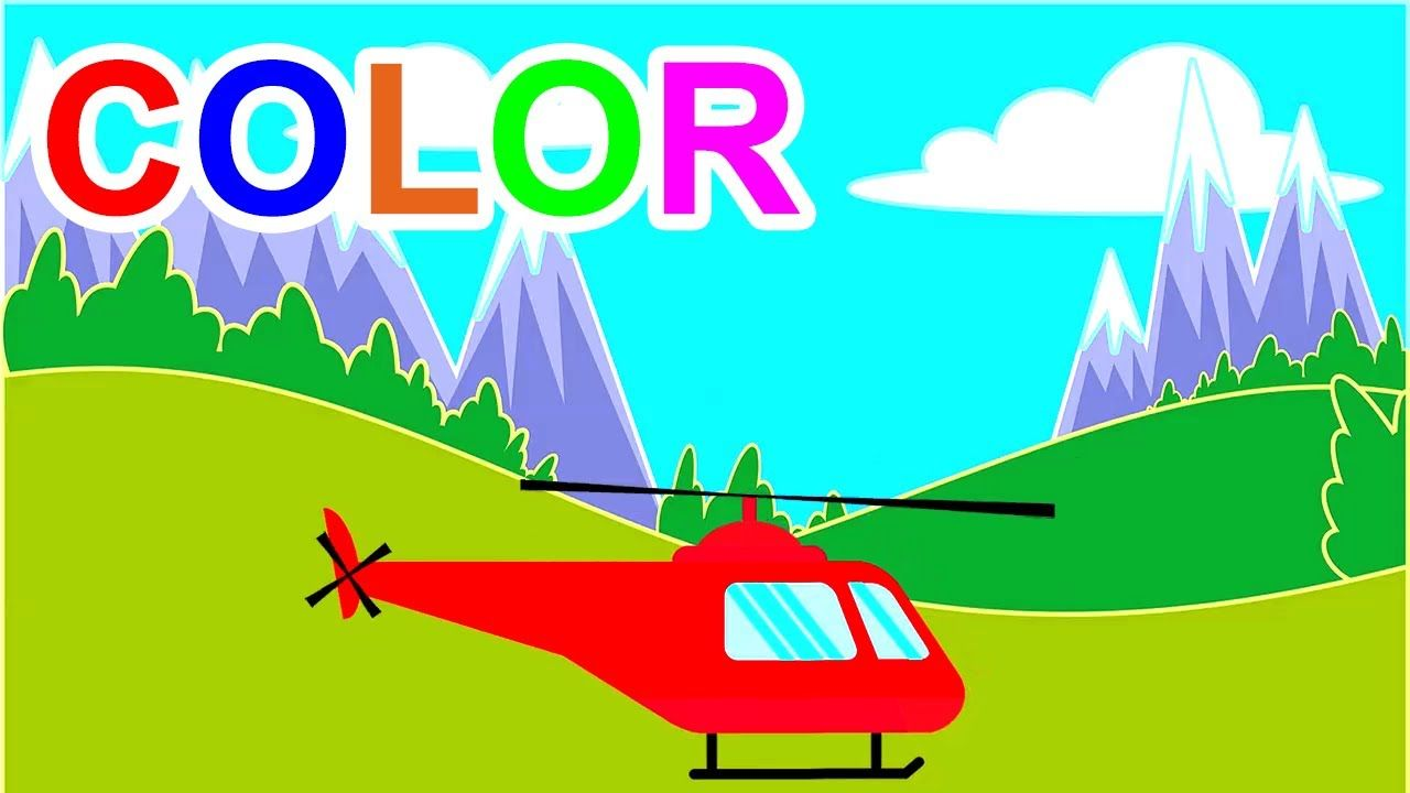 Learn Colors With Helicopters For Kids Children Toddlers | TOHE KID ...