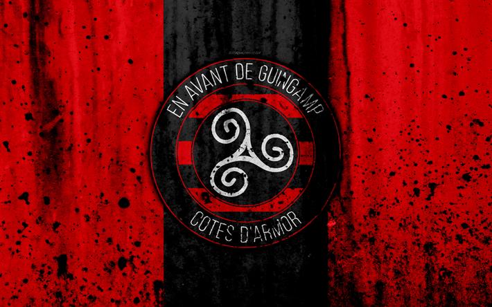 футбол 1 Wallpaper: Descargar Fondos De Pantalla FC Guingamp, 4k, Logotipo, La