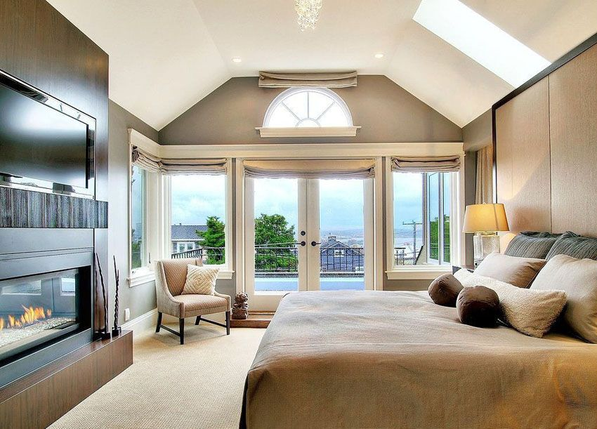 Luxury Master Bedrooms With Fireplaces Belle Chambre Chambre Design Et Chambre Moderne