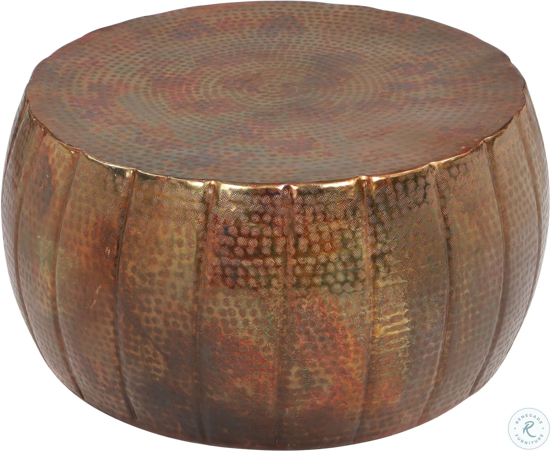 Gema Hammered Copper Drum Cocktail Table In 2021 Round Metal Coffee Table Copper Coffee Table Round Copper Coffee Table [ 1806 x 2200 Pixel ]