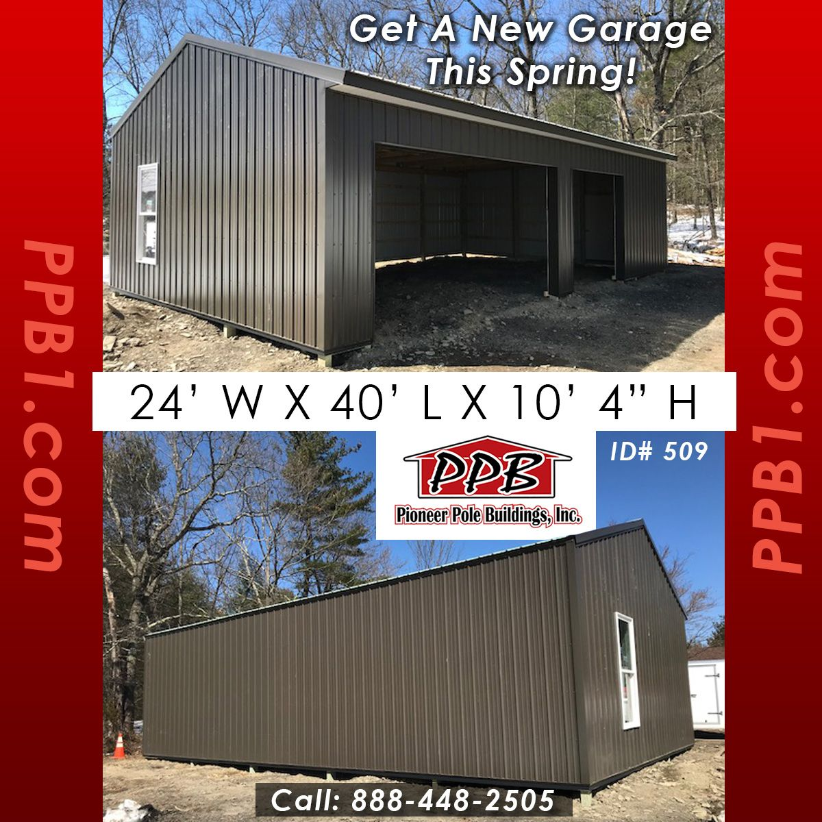 Get A New Garage This Spring Dimensions 24 W X 40 L X 10 4 H 24 Standard Trusses 4 On Center 4 12 Pitch Colo Siding Colors Garage Design Pitch Colour