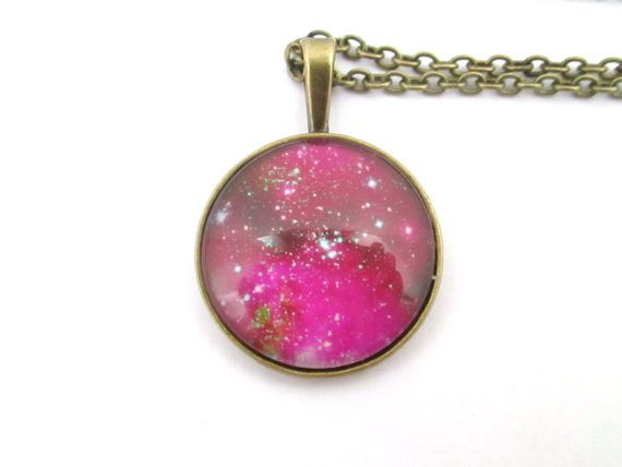 Romeda Nebula galaxy Necklace   Universe pendant by StylesBiju, $17.90