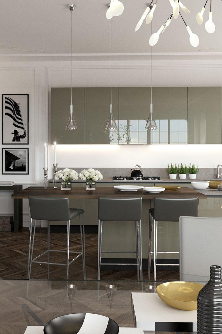 Vista Frontale Di Una Cucina Di Stile Ed Eleganza Lacasamoderna