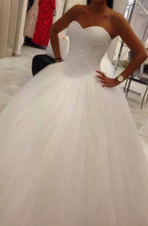 New White   Ivory Wedding Dress Bridal Gown Custom Size 6-8-10-12-14 ... a7dce3aa915f