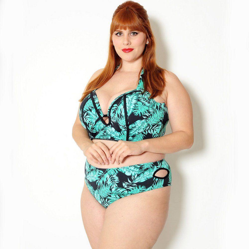8440014bda Top Biquíni Plus Size Cropped Folhagem - Bambina Beachwear