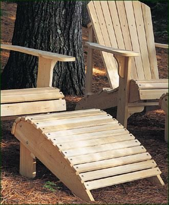 Classic Adirondack Footrest - Northern White Cedar footrest. A companion to the Classic Adirondack Chair & Classic Adirondack Footrest - Northern White Cedar footrest. A ...