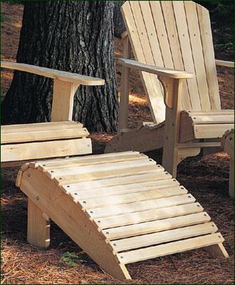 Heavy Duty Sun Lounger, Seaside Adirondack Footrest From Walpole Outdoors Foot Rest Adirondack Chairs Diy Cedar Furniture