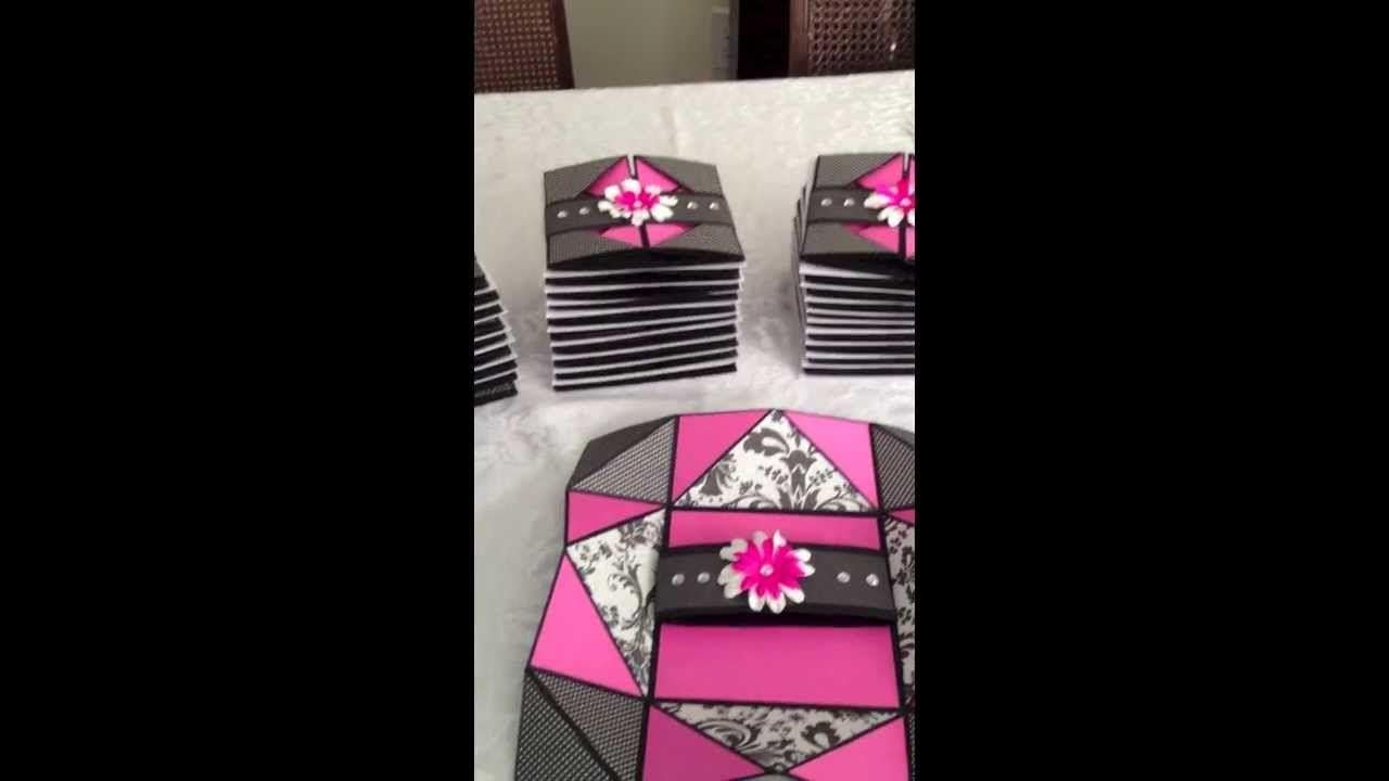 Sweet 16 Card Making Ideas Part - 43: Sweet Sixteen Invitations - The Napkin Fold Card