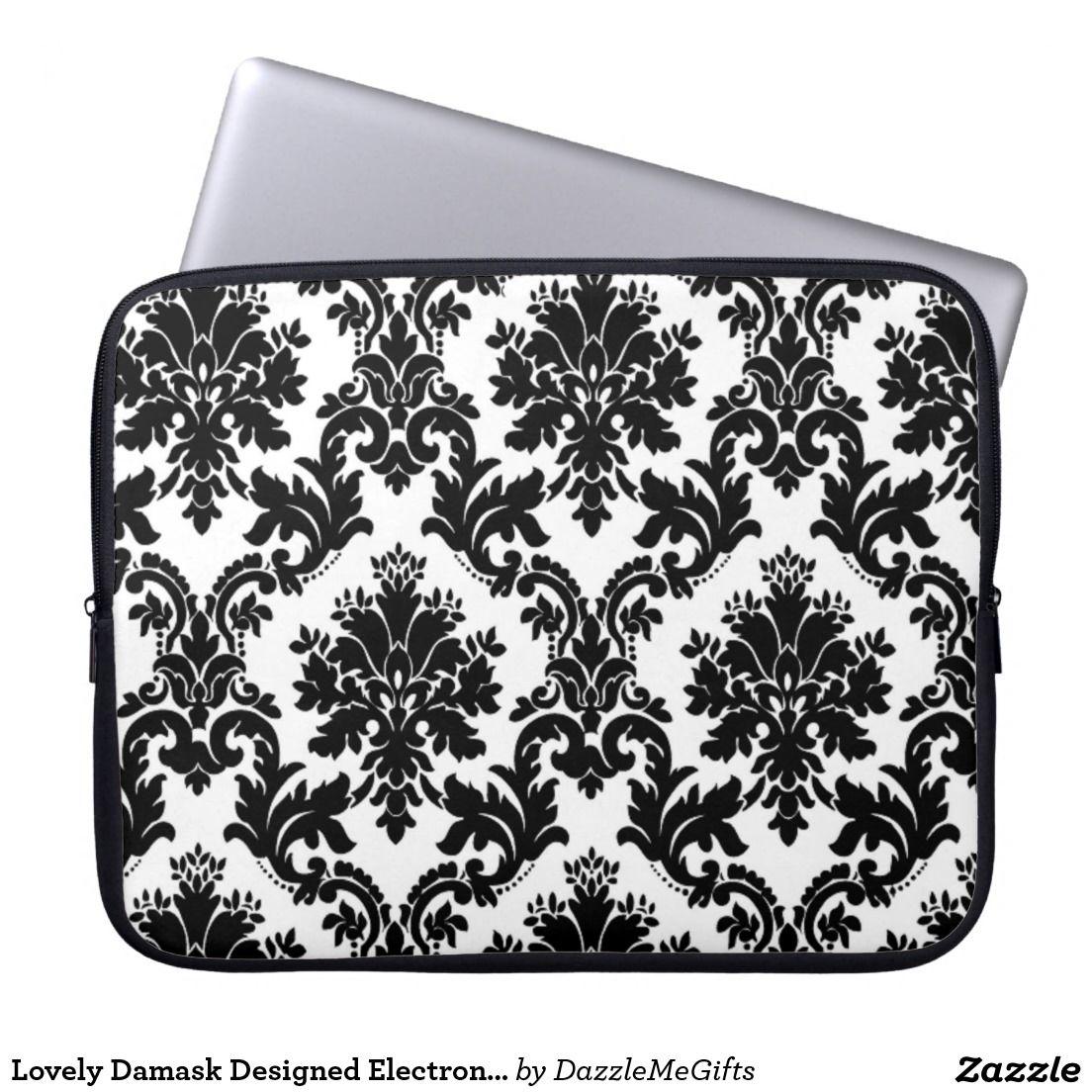 Lovely Damask Designed Electronics Bag Laptop Sleeve