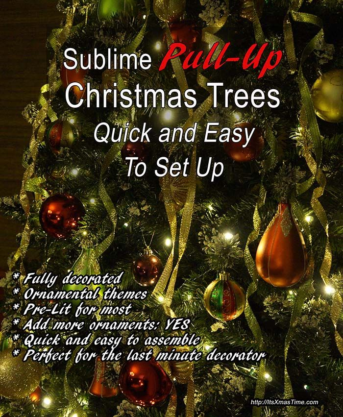 Pull-Up Christmas Trees - Check out these sublime pull-up Christmas trees;  these come fully decorated,pre-lit and help avoid the hassle of setting up,  ... - Pull-Up Christmas Trees - Check Out These Sublime Pull-up Christmas