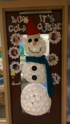 Baby it   cold outside  snowman classroom door decoration also idea rh pinterest
