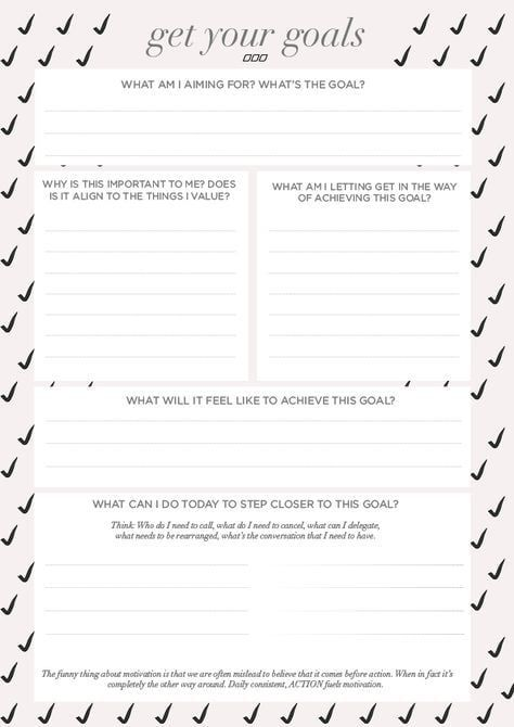 16 Printable Goal Sheets to Help You Stay on Track This Year is part of Goal setting worksheet, Goals sheet, Goals worksheet, Goal setting, Goal planning, Goals - Download Move Nourish Believe Goal Setting Worksheet