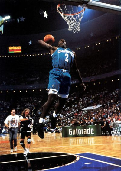 Larry Johnson Who Played For The Charlotte Hornets From 1991 To 1996