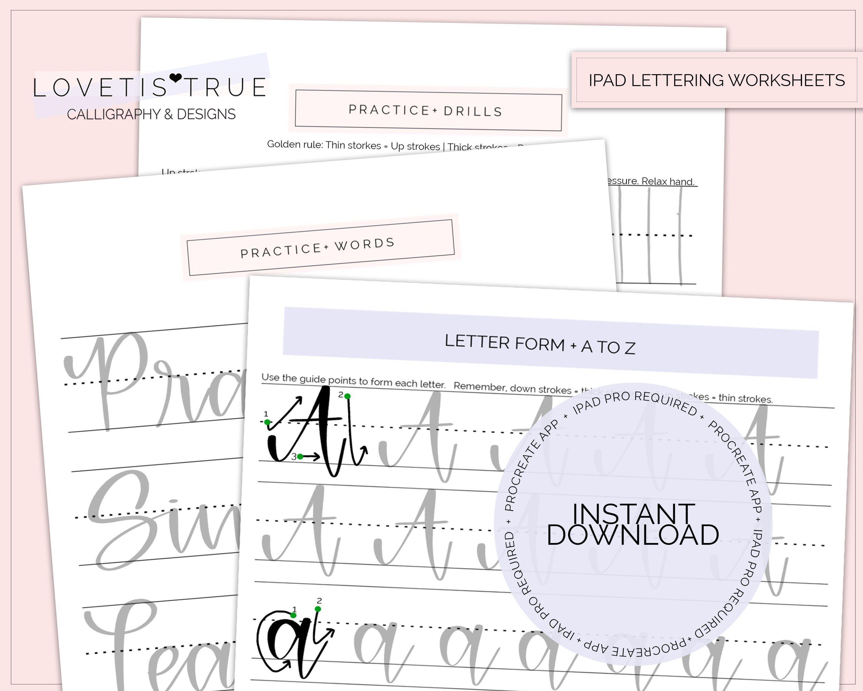 Ipad Pro Lettering Uppercase Amp Lowercase Brush Lettering