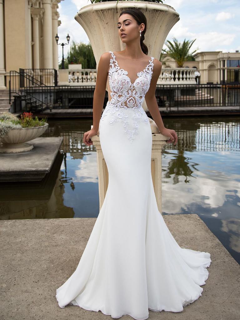 Wedding Satin Mermaid Wedding Dress Lace Top Wedding Dress Designer Wedding Dresses [ 1024 x 768 Pixel ]