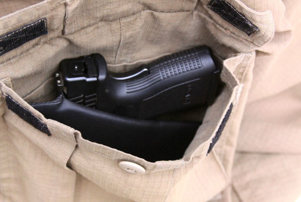 Creative conceal concealed carry cargo pocket holsters