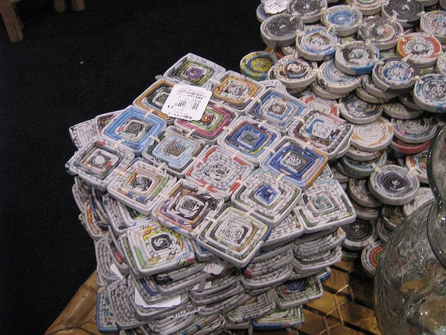 coiled rolled up magazine pages by onesharp, via Flickr