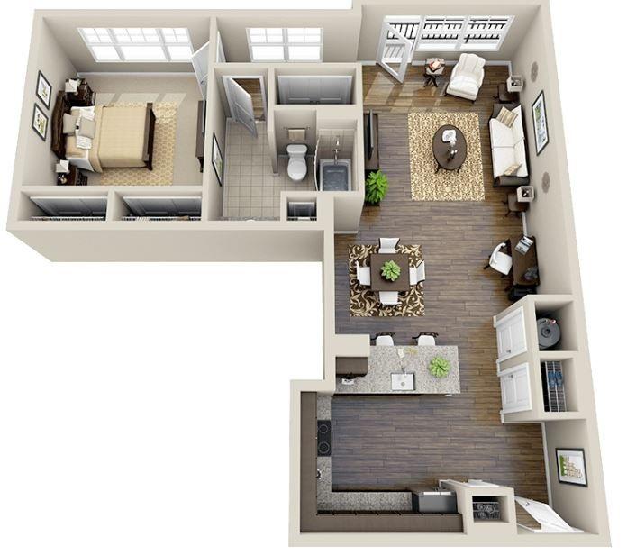 Planos de apartamentos peque os de solteros deco for Modelos de apartamentos modernos y pequenos