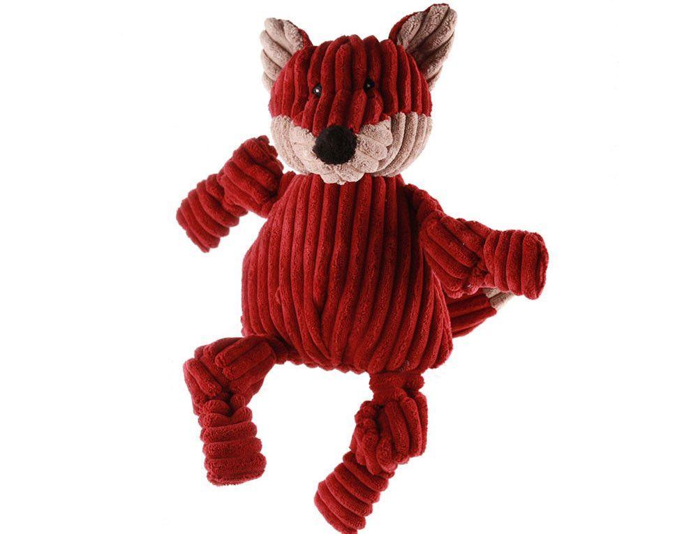 Huggle Hounds Plush Durable Knotties Fox Dog Toys Fox Dog