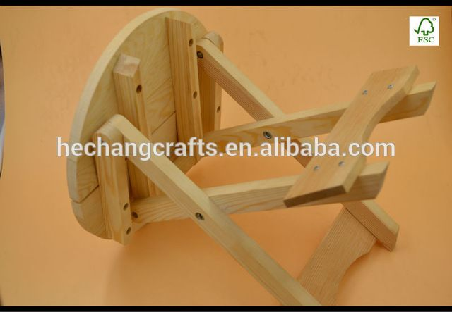 Source wholesale natural wooden stool,wooden folding chair on m ...