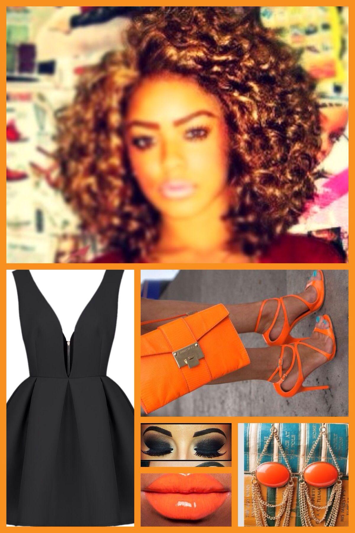 Great orange an black pop love it great for date night