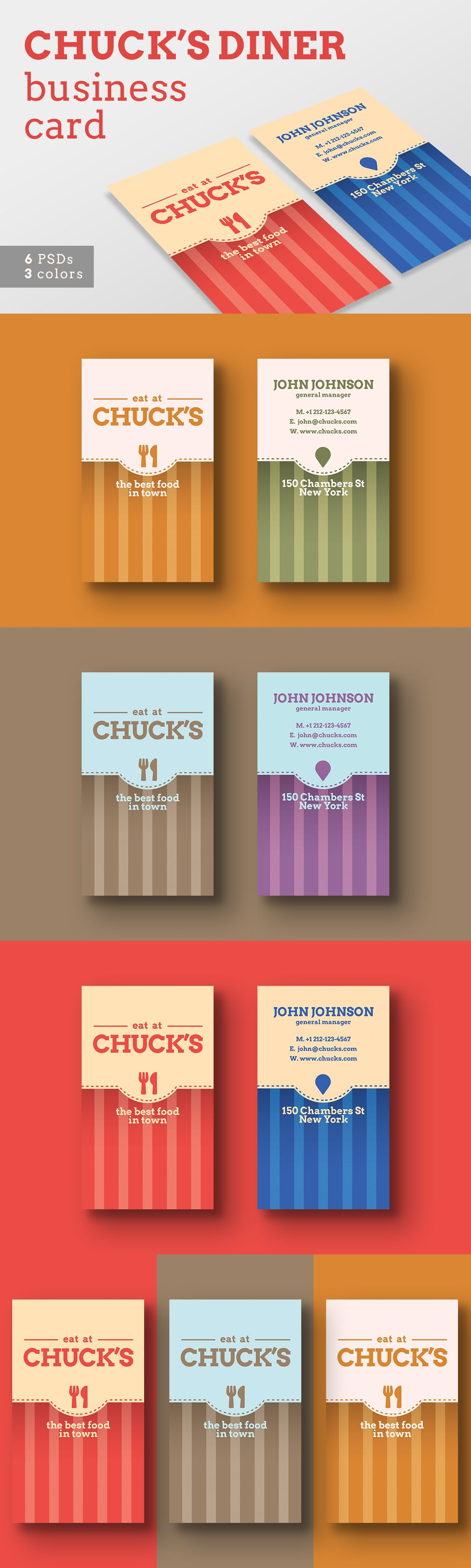 Local Diner Business Card Templates Restaurant Business Cards Business Card Inspiration Business Cards Creative