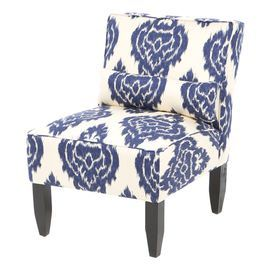 Damask Accent Chair Wooden Kitchen Chairs For Sale Ikat With A Pine Wood Frame And Foam Padding Handmade In The Usa Product Construction Material Metal Polyfoam