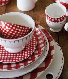 Dinnerware Depot - Dinnerware Sets Fine China Dishes Tableware for Sale - At Home with Marieke Red Check Tableware & Dinnerware Depot - Dinnerware Sets Fine China Dishes Tableware ...
