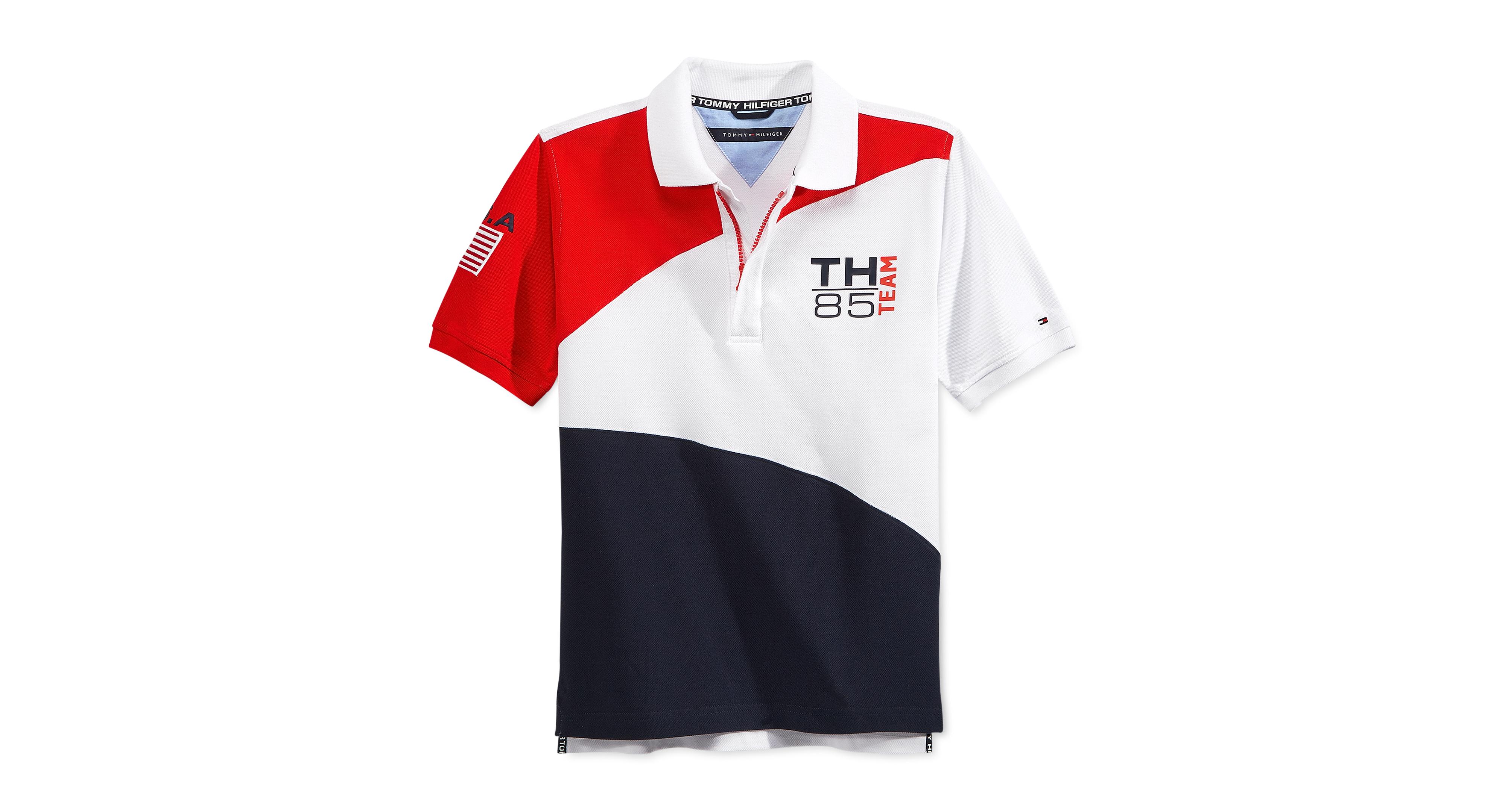 Tommy Hilfiger Boys Usa Polo Polo Tommy Hilfiger Mens Tops
