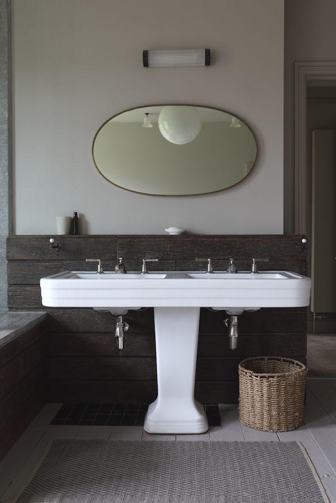 Bathroom Double Pedestal Sink