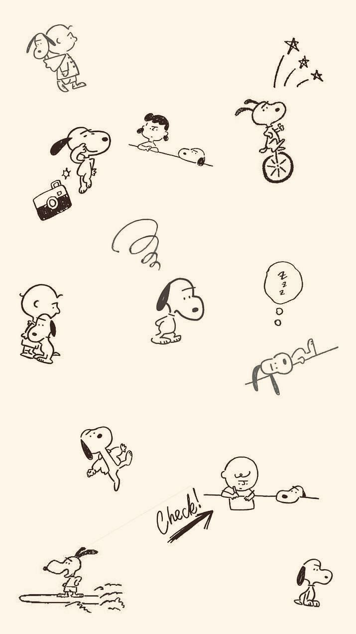 Snoopy 長場雄 スヌーピー スヌーピーの壁紙 キュートなスケッチ
