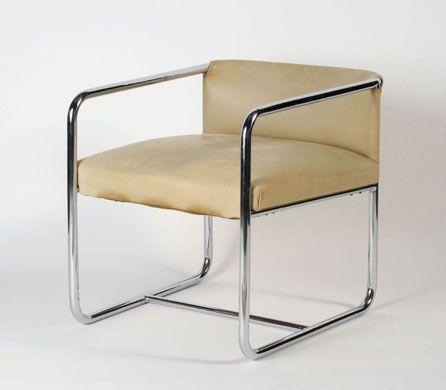 Tubular steel chair by theo van doesburg theo van for Design stuhl draht