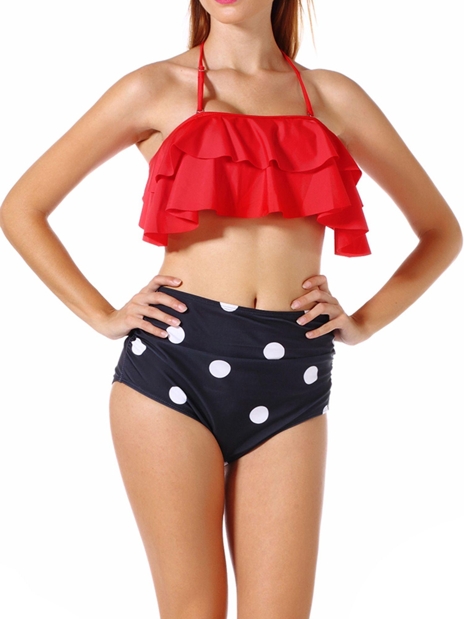 6a4d200604 2018 Swimwear Women High Waist Triangle Bikini Set Bandage Push-Up Swimsuit  Bathing Suit New Style#Waist, #Triangle, #Bikini