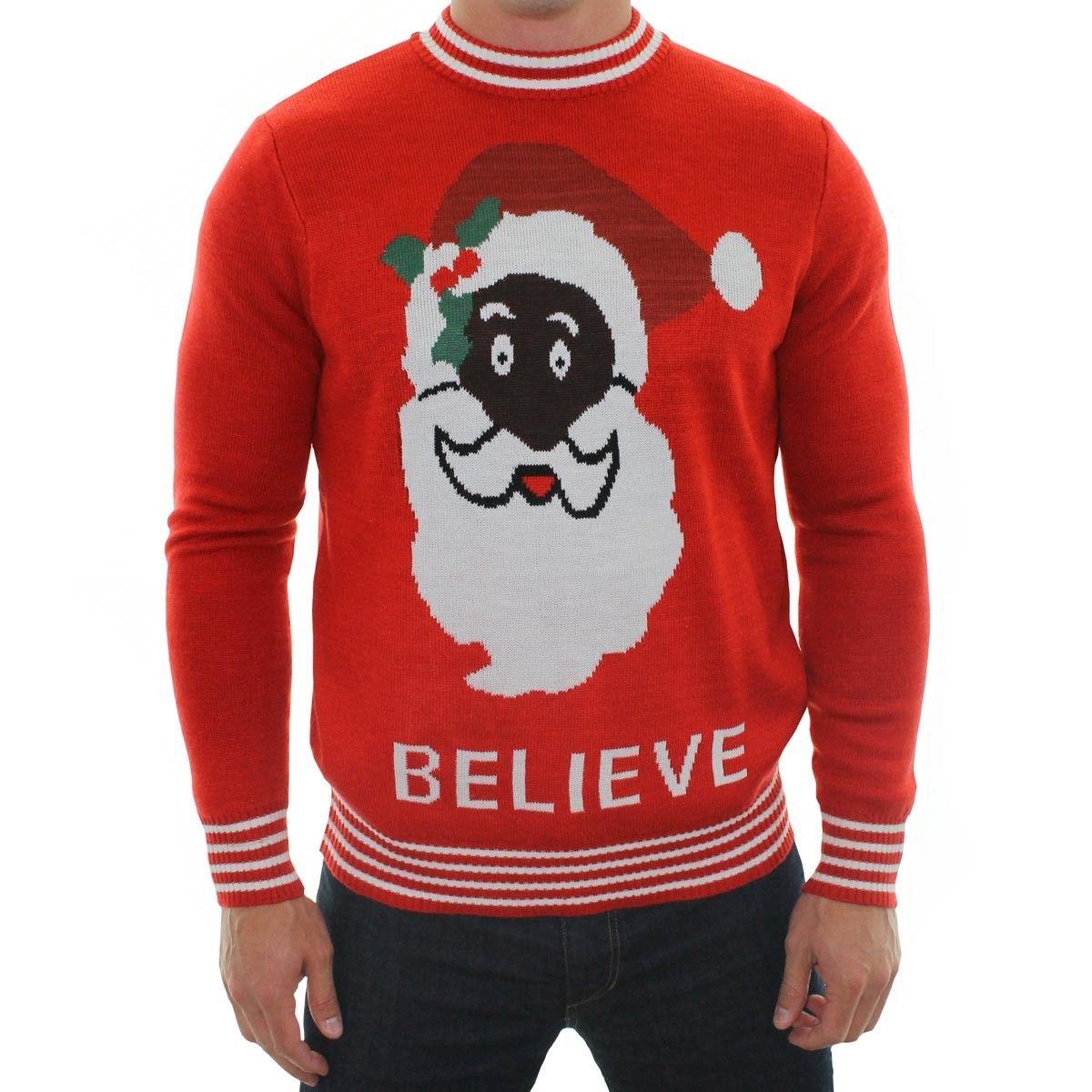 Men's Black Santa Sweater | Tipsy elves, Ugliest christmas ...
