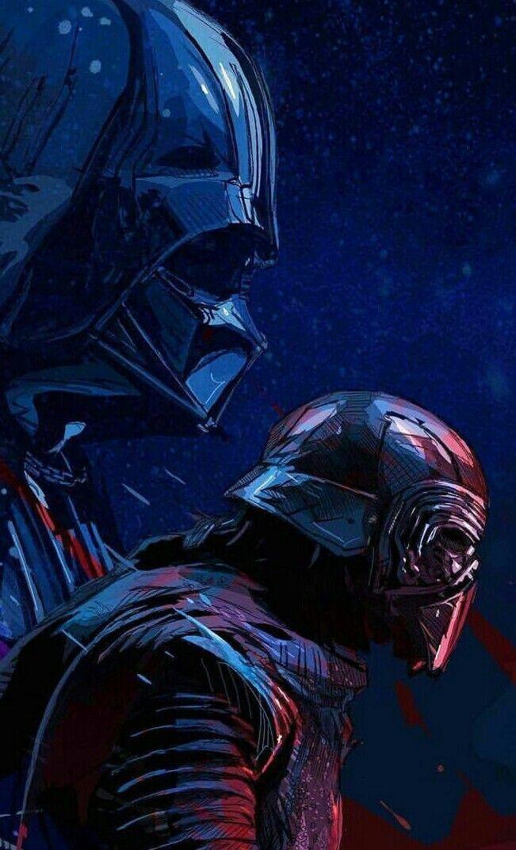 DARTH VADER AND KYLO REN Star wars artwork, Star wars