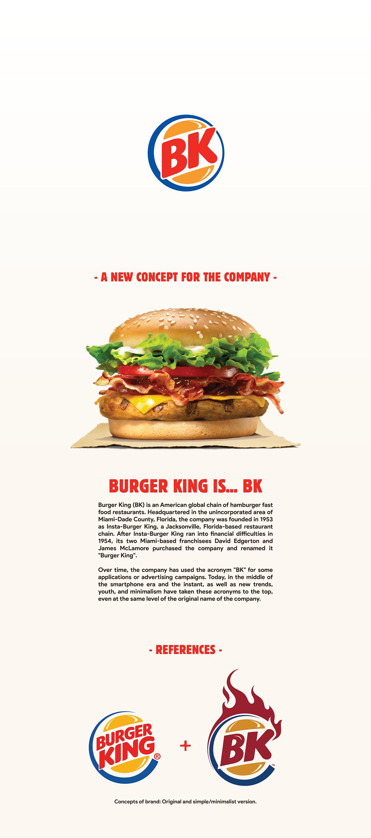 Bk Burger King Rebranding On Behance Burger King Burger Food