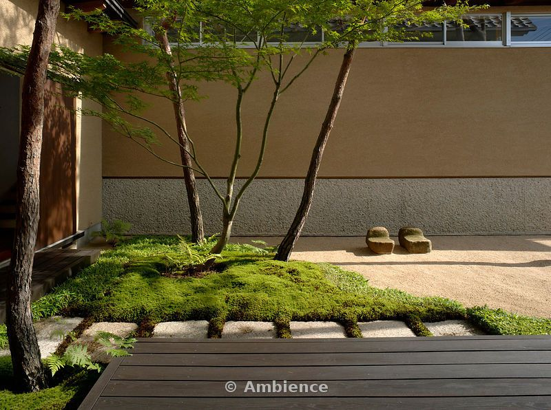 Japanese gardens off deck on north side leading to for Contemporary japanese garden