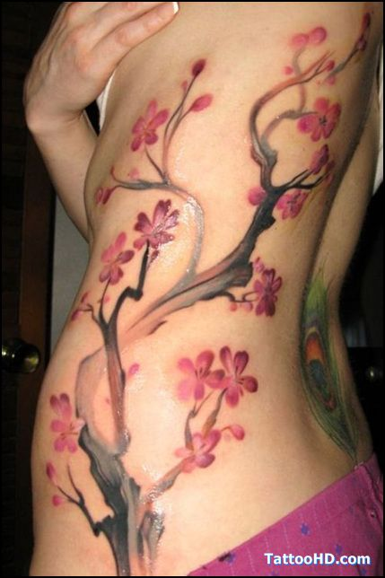 I Really Like How The Branches Are Done Cherry Tree Tattoos Tree Tattoo Designs Cherry Blossom Tattoo