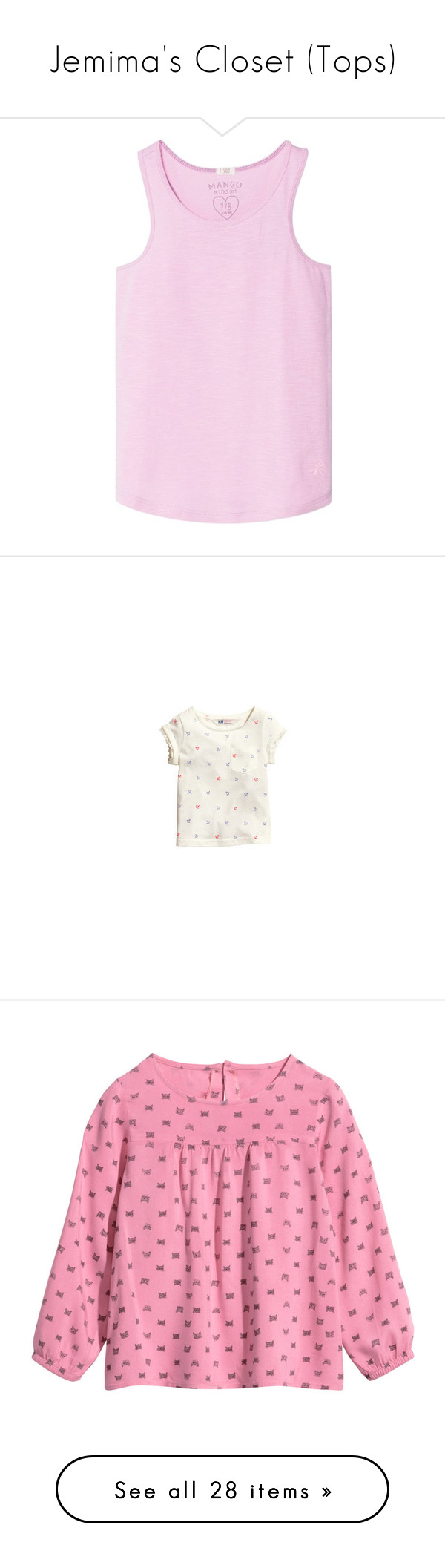 """Jemima's Closet (Tops)"" by littlewhitedaisy ❤ liked on Polyvore featuring tops, kids, girls, daughter, h&m, baby clothes, shirts & tops, baby, shirts and kids clothes"