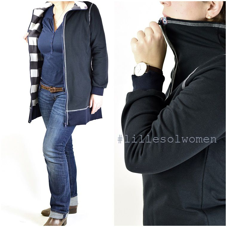 Schnittmuster / Ebook lillesol women No.2 Freizeitjacke / Nähen Jacke Damen/ sewing pattern Jersey leisure jacket