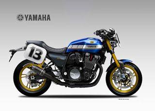 Motosketches: YAMAHA XJR 1300 YARD BUILT AMA Spec.