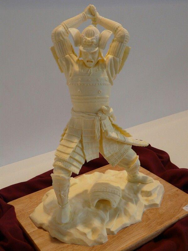 samurai butter butter sculptures edible sculptures in 2018