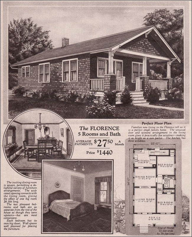1930 Montgomery Ward Florence If Only You Could Still Build A House For That Price Vintage House Plans Craftsman Bungalows Craftsman Bungalow House Plans