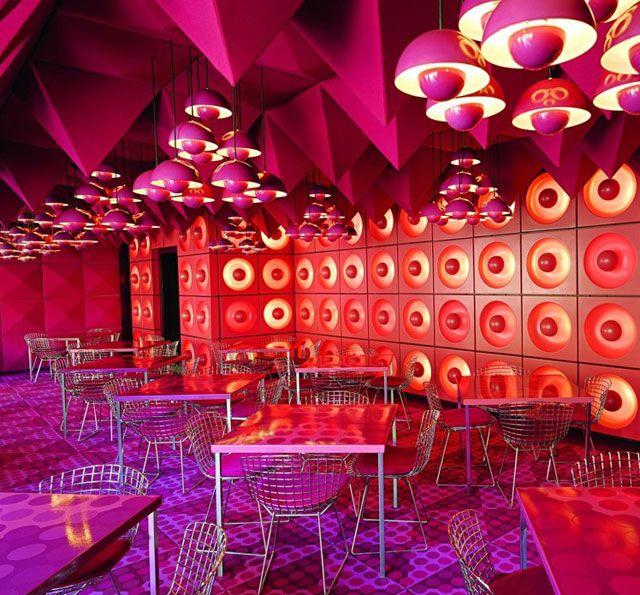 Verner Panton Interiors // Restaurant Varna & Spiegel