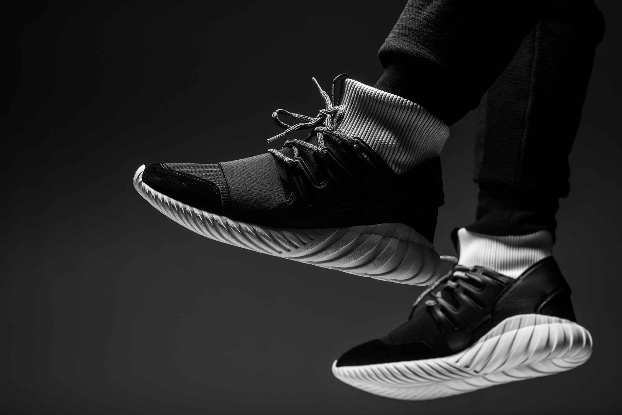 """outlet store 0145f e285d Bearing dueling white and black colorways, the adidas Tubular Doom """"Yin Yang""""  pack"""